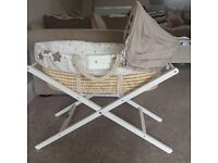Millie and Boris Moses basket and stand