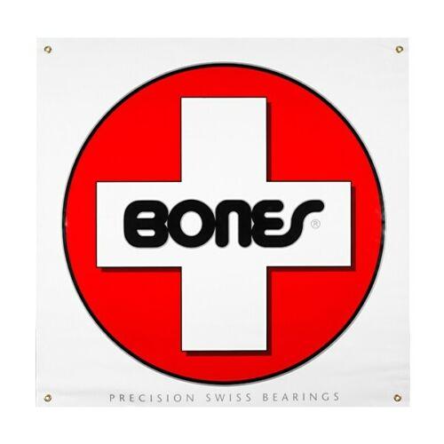 Powell Peralta Bones Swiss Cross Bearings Skateboards Vinyl BANNER NEW