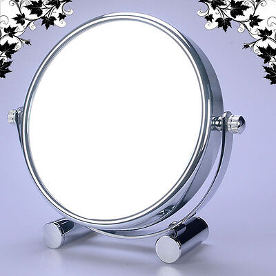 LUXUS DOPPEL Kosmetikspiegel Nomal+5Fach, für Rasieren, Makeup, Reise, WM-EI-5