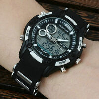 F21  Men's men military sports watches Dual Time