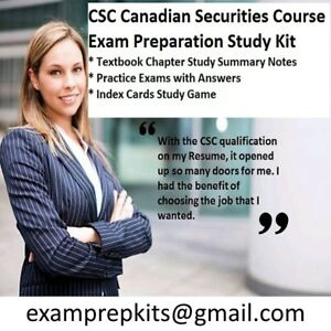 CSC Exam Prep 2017 Complete Study Kit Canadian Securities Course