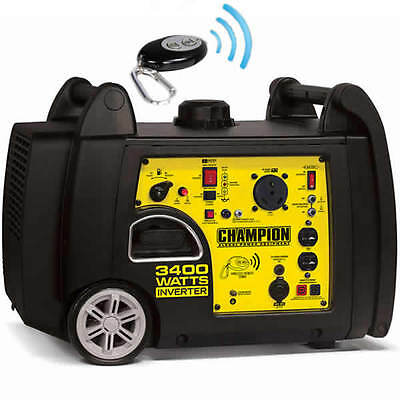 Champion 100261 - 3100 Watt Electric Start Inverter Generator W Rv Outlet ...