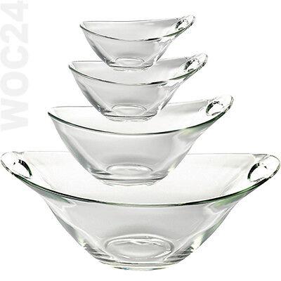 Schale Schüssel Glas Glasschüssel Stapelschale Salatschüssel Salatschale Dessert Schale Schüssel
