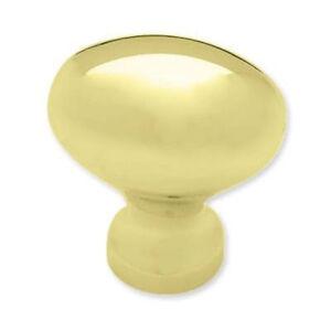 Knob Oval Football Kitchen Cabinet Dresser P50805C Brass
