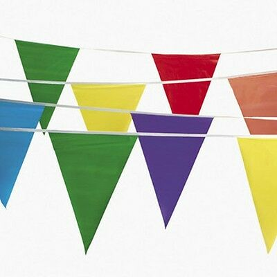 2-100' Pennant Flag Banners Multi-Color Party Decor Circus Float Supplies 200 ft - Carnival Supplies