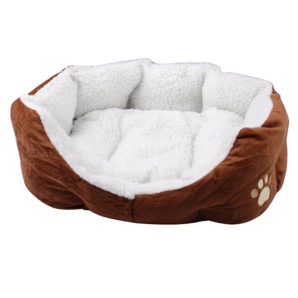 Small Luxury Soft Indoor Pet Dog Cat Puppy Bed Sofa House Mat Cushion Fleece