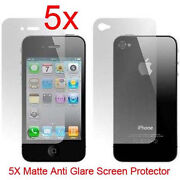 iPhone 4 Screen Protector Front Back Anti Glare