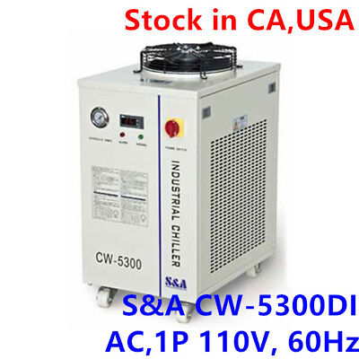 Sa Usa-110v 60hz Cw-5300di Industrial Water Chiller For Single 200w Co2 Laser