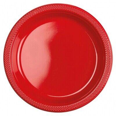 FF 10 STÜCK APFELROT ROT PARTY-TELLER 22,8 CM NEU (Rote Kunststoff-teller)