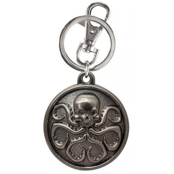 Marvel Comics Avengers Captain America Hydra 3D Logo Pewter Key Ring Keychain