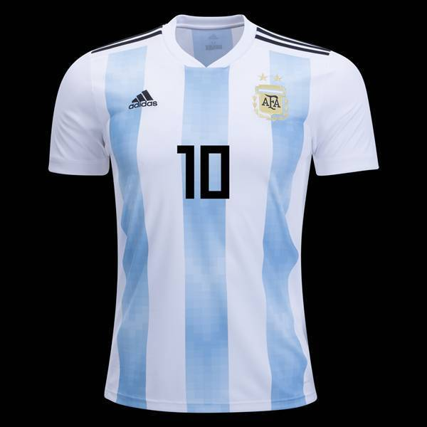 a9766c9c8 Messi Argentina home Soccer world cup 2018 jersey T-shirt