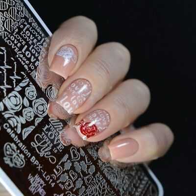 Valentines Day Celebration Diy Manicure Nail Art Stamping Image Plate Template
