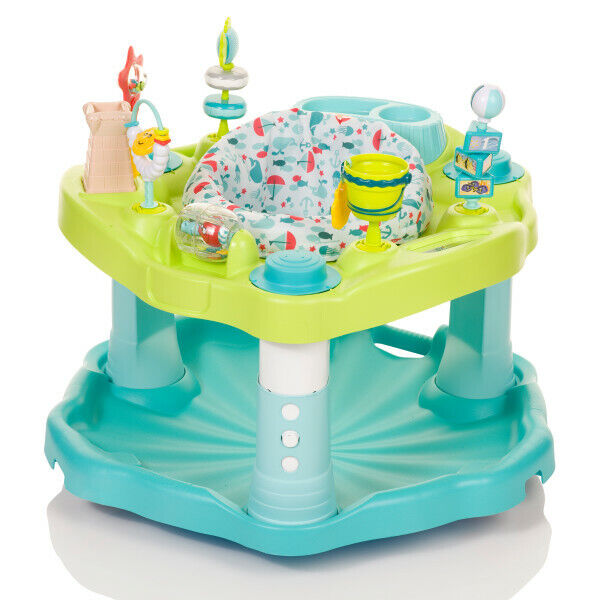 Baby Learning Entertainer Seat Seaside Splash Activity Center Learn Play Toys