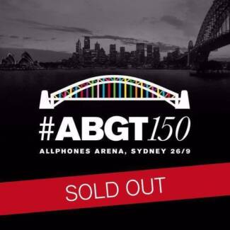 3 X GA Standing Tickets for A&B ABGT#150 Sydney Sydney City Inner Sydney Preview