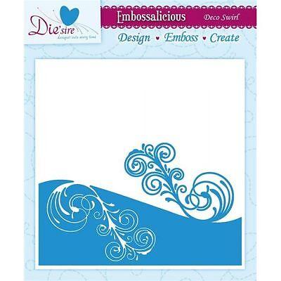 """Die'sire Embossing Folder 6"""" x 6""""  - Deco Swirl"""