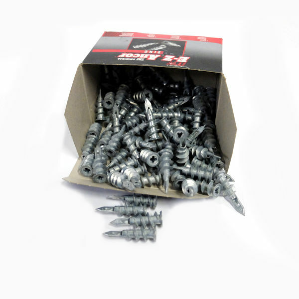 E-Z Ancor Zinc Screw Drywall Anchors 50930, 100 Count