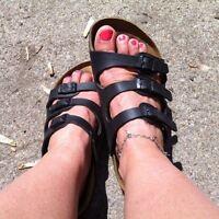 Sandales Birkenstock noires 3 courroies