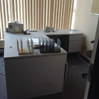 GREY DESK WITH SIDE ATTACHEMENT (2 aVAILABLE)