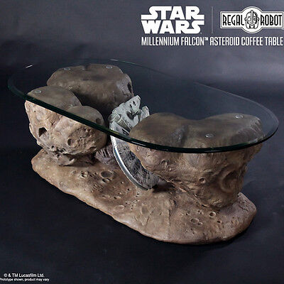 REGAL ROBOT Millennium Falcon Asteroid full size Coffee Table Star Wars NEW