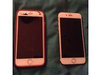 iPhone 6 x2 spares or repair