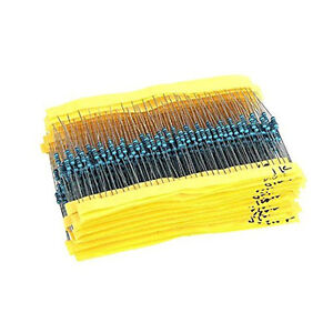 2600pcs 130 Values 1/4W 0.25W 1% Metal Film Resistors Assorted Pack Kit Set Lot