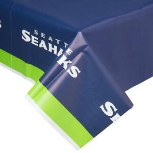 Seattle Seahawks Plastic Table Cover (New)