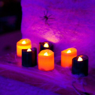 6er Set LED Kerze Deko Stumpkerze Halloween Fasching Karneval Batterie Innen ()