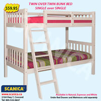 BUNK BEDS, STAIRWAY BUNK BEDS & LOFTS, CANADIAN MADE BUNK BEDS