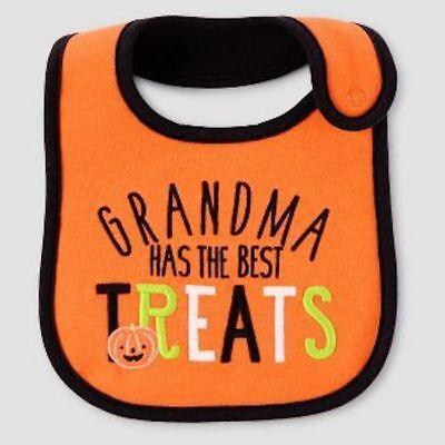 Just One You Carter's Grandma has the best treats Halloween bib teething cloth (Carters Baby Halloween Clothes)