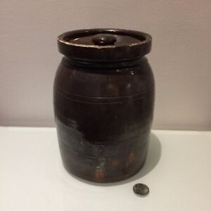 Antique Primitive Butter Jar