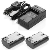 Canon Eos LP-E6 x 2pcs Battery+1pcs Charger EOS 6D 60D 60Da 7D