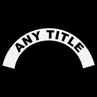 Any Title Rank Name Black Helmet Crescent Reflective Decal Sticker