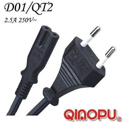 2 Prong AC Power Cord 2 Pin Adapter Cable For Laptop EU European -