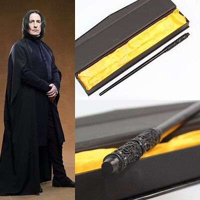 1X Harry Potter Severus Snape Pvc Resin 35Cm Magic Wand Stick Gift Box Cosplay