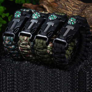 5 in 1 SURVIVAL BRACELETS WHOLESALE BRAND NEW SUPER LOW PRICE