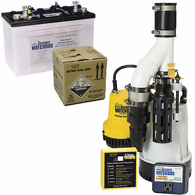 Basement Watchdog 13 Hp Combination Primary And Backup Sump Pumps W Battery...