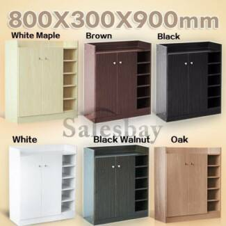 BRAND NEW Wooden MDF Shoe Cabinet Storage Rack 21 Pairs Shoes