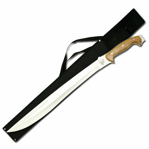 "NEW! 25"" Full Tang Talibon Wood Handle Machete Sword w/ Shoulder Sheath"