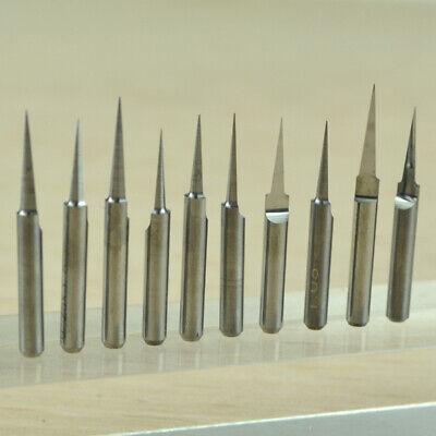 Carbide Pcb Board 0.1mm 10 Degree Engraving Bits Cnc Router Tool V-shape 10pcs