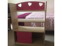 Bookcase with storage cupboard