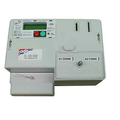 *NEW* RDL M101 DUAL COIN £1 & £2 DIGITAL PREPAYMENT ELECTRIC METER & TIMER