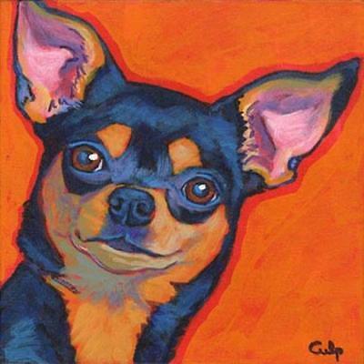 Chihuahua Black and Tan Print 8x10 by Lynn Culp (LC040) - Free Shipping