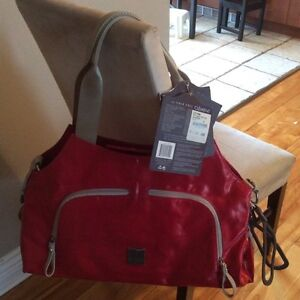 JJ Cole Theory diaper bag in red