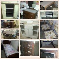 Meuble antiques tables chaise, meuble vaisselle, artisans
