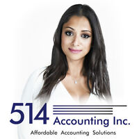 Accounting | Bookkeeping | Tax | Excellent Service 514 712-3851