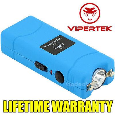 VIPERTEK VTS-881 35 BV Rechargeable Micro Mini Stun Gun LED Flashlight - Blue