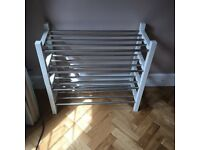 Ikea white Tjusig shoe racks x2