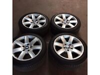 225/45/17 BMW 3 series alloys and tyres