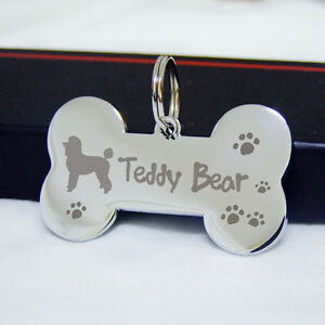 Big-Bone-Pet-ID-Tags-Dog-Tag-Name-Tag-Stainless-Steel-Custom-Cat-Pet-Tag-Silver