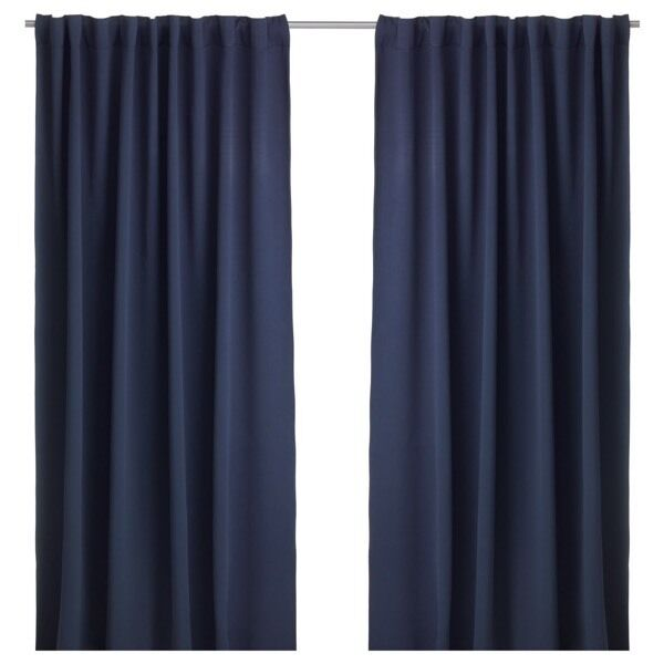 WERNA IKEA dark blue curtains
